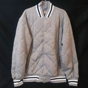 PJ Mark | Gray/White/Black | Quilted Puff Coat 3XL